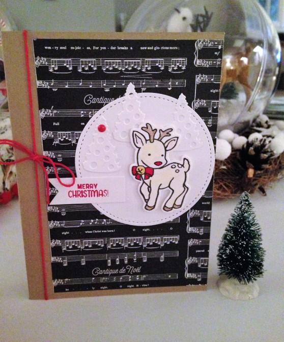Carte de Noël Set de tampons Seasonal Chums + Poinçons Framelits Étiquettes de saison