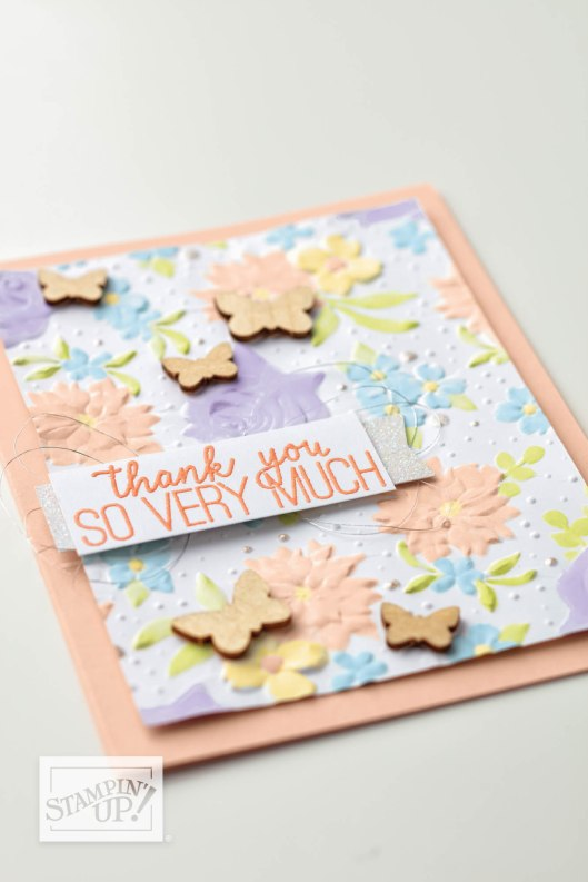 "emphasize ""thank you"" embossing in post"